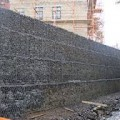 Mass gravity gabion retaining wall (per m3)